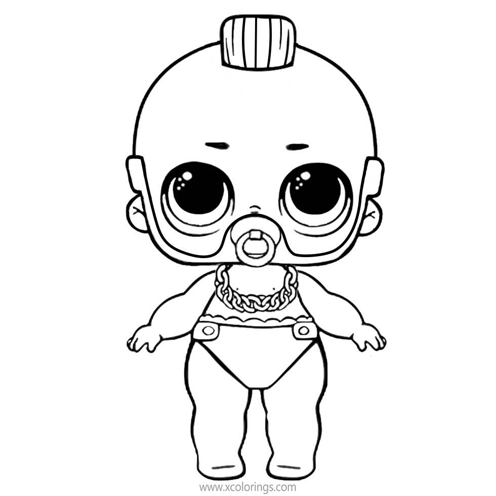 Lol Baby Coloring Pages Lil Boy Xcolorings Com