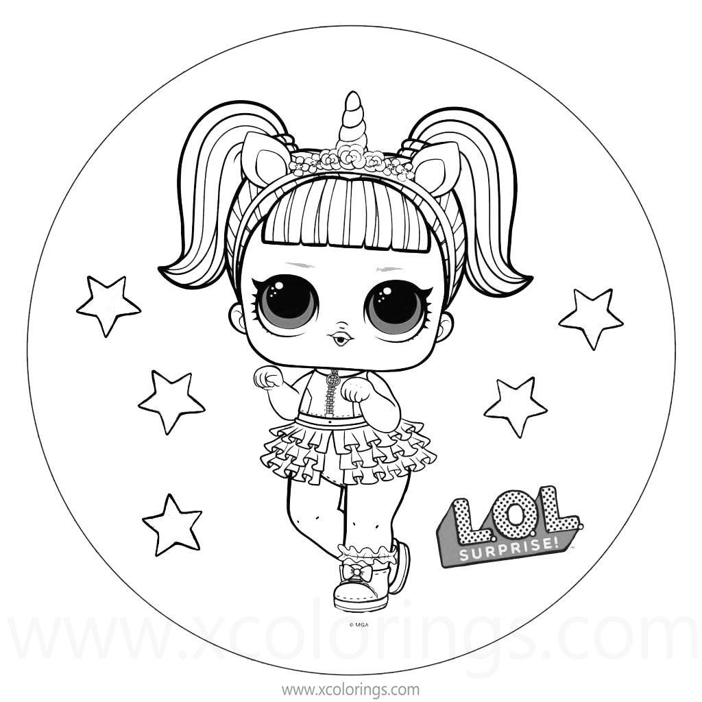 Free LOL Coloring Pages Unicorn printable