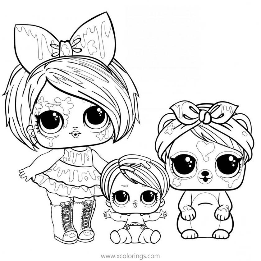 LOL Doll Pets Coloring Pages - XColorings.com