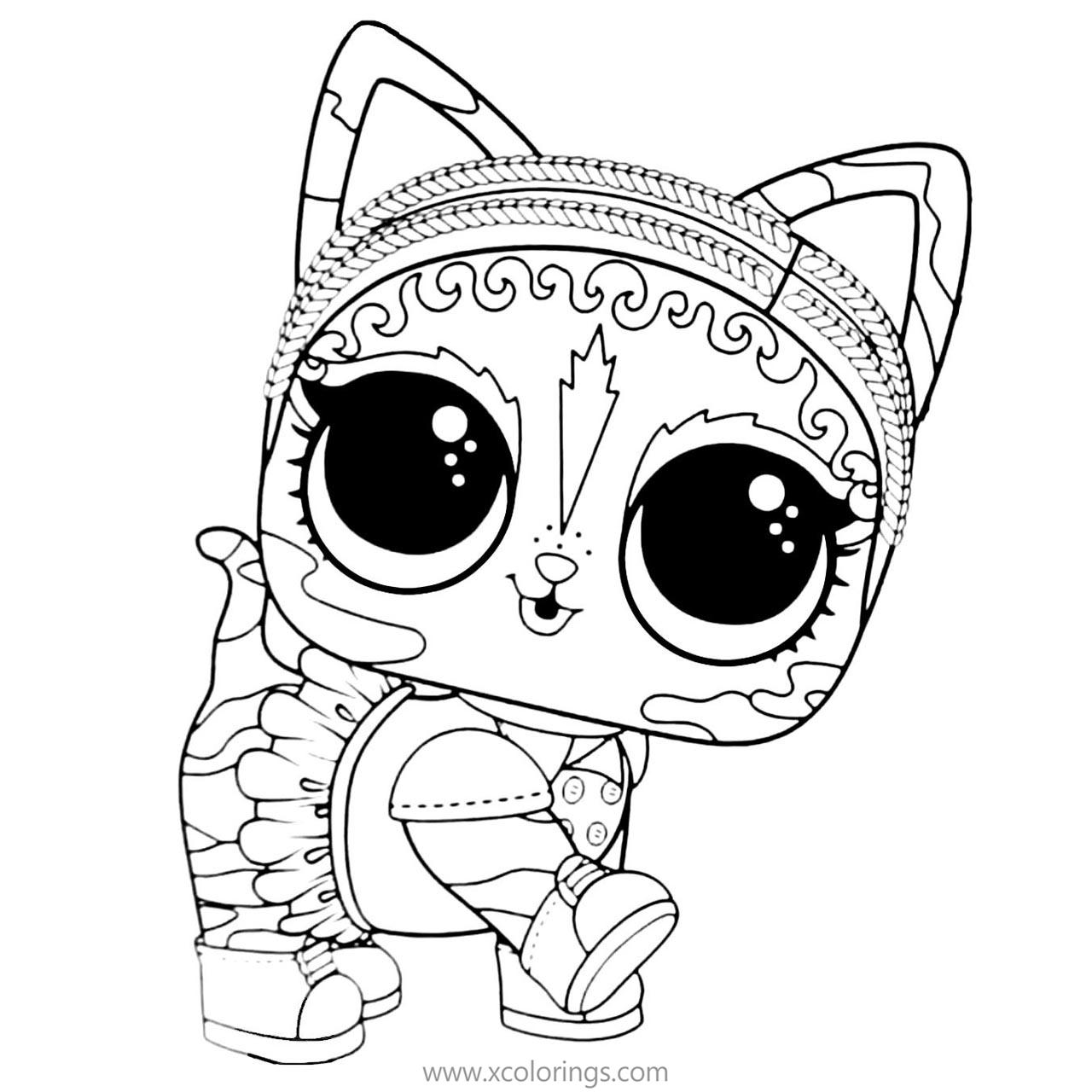 Lol Pets Coloring Pages Agent Kitty Xcolorings Com