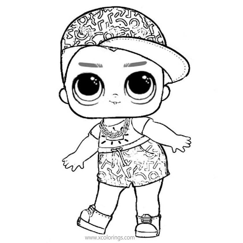 Lol Surprise Boy Coloring Pages Boy With Hat Xcolorings Com