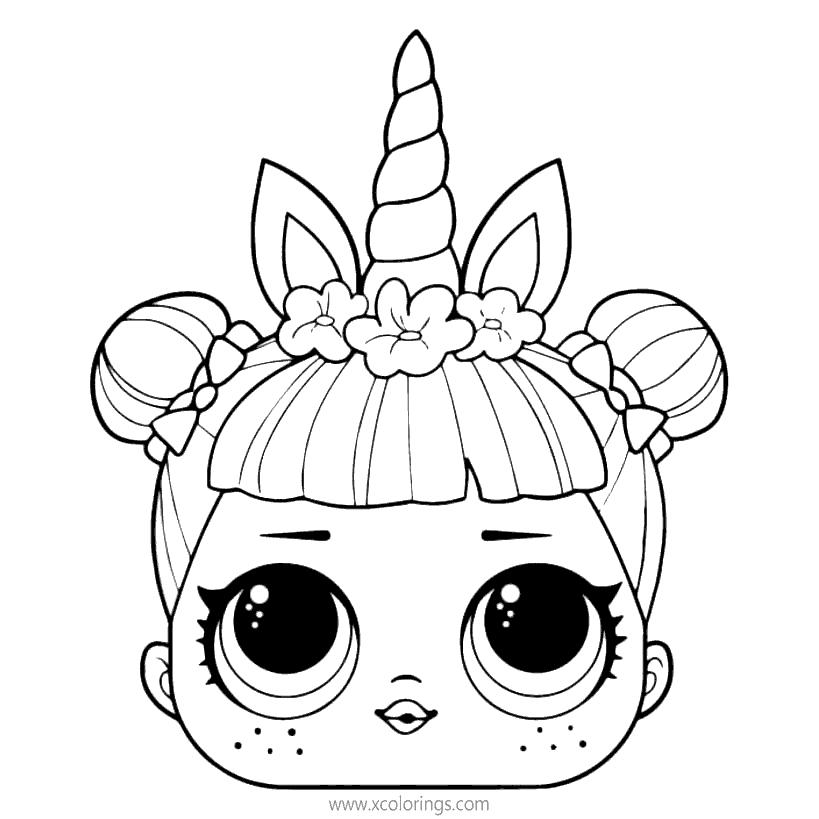 Lol Unicorn Coloring Pages Printable Xcolorings Com