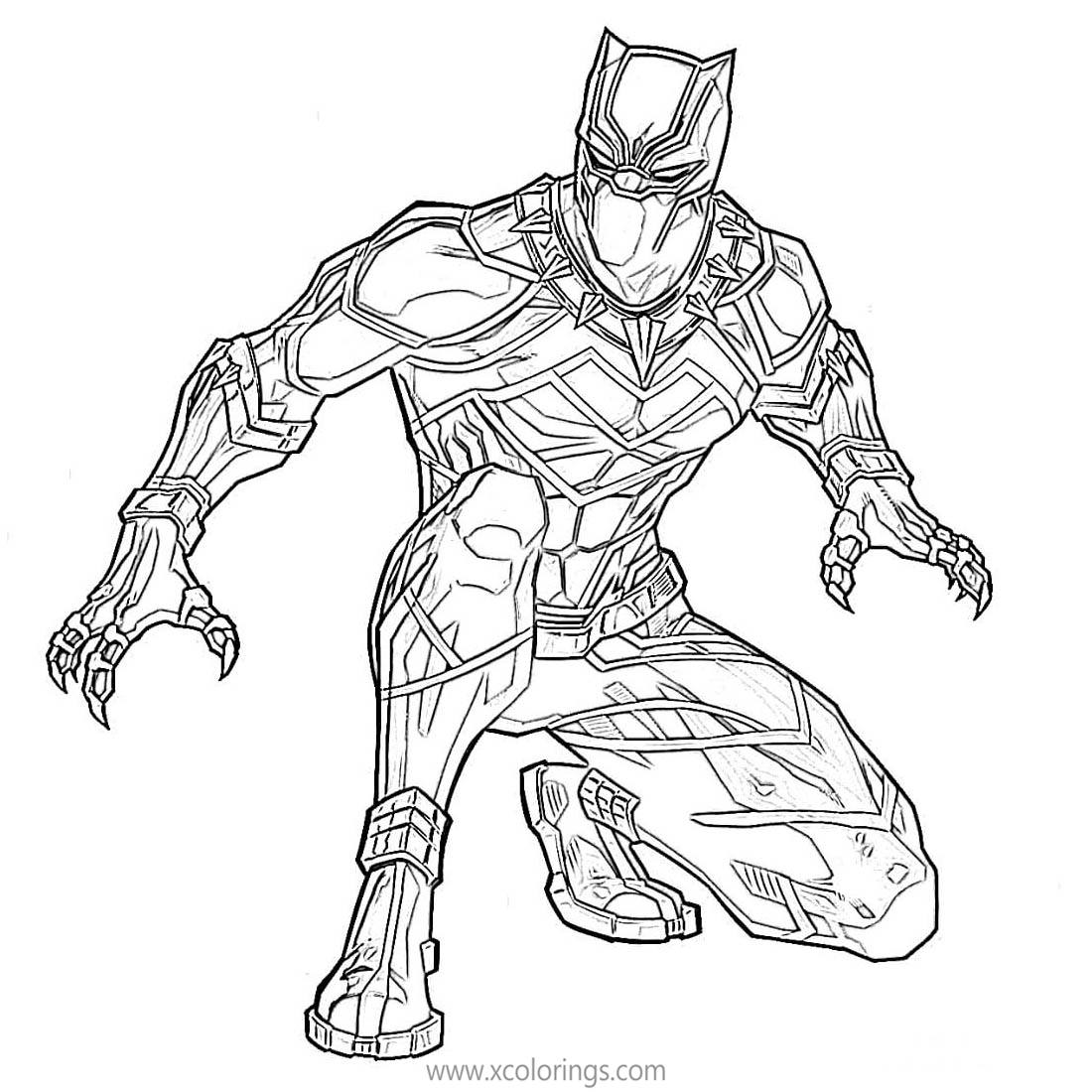 The Avengers Black Panther Coloring Pages Xcolorings Com