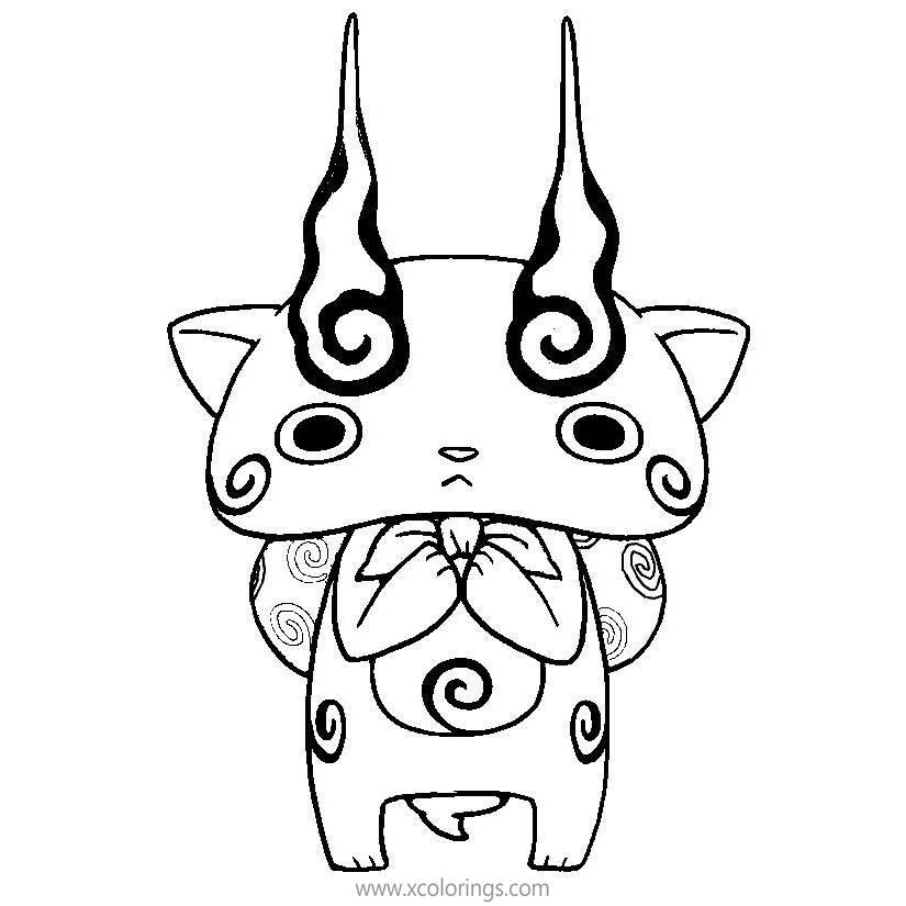 Yo Kai Watch Komasan Coloring Pages Xcolorings Com