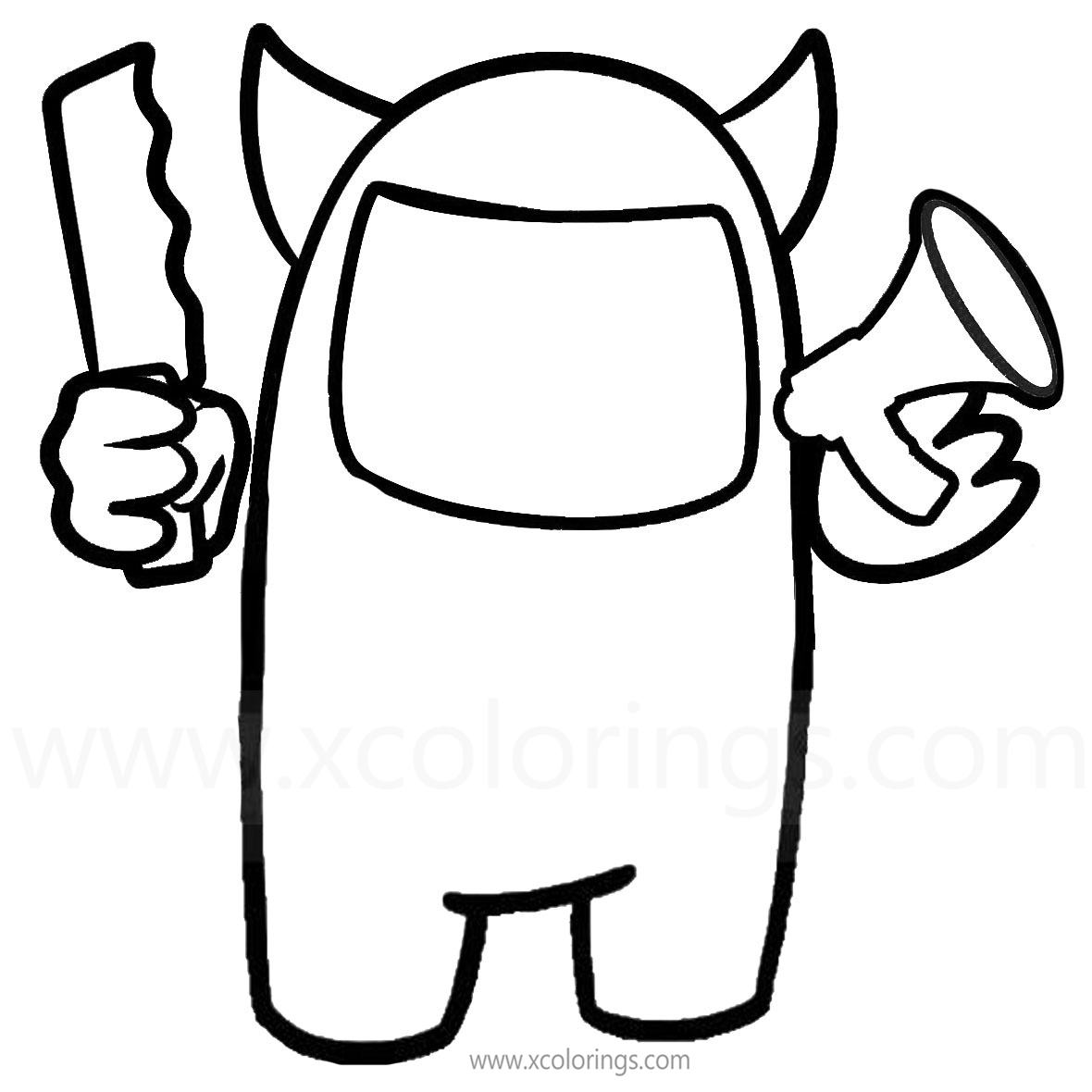 Free Among Us Coloring Pages Devil Skin printable