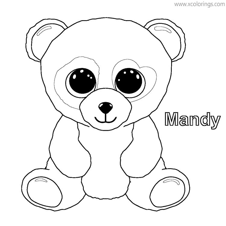 Beanie Boos Coloring Pages Mandy - XColorings.com