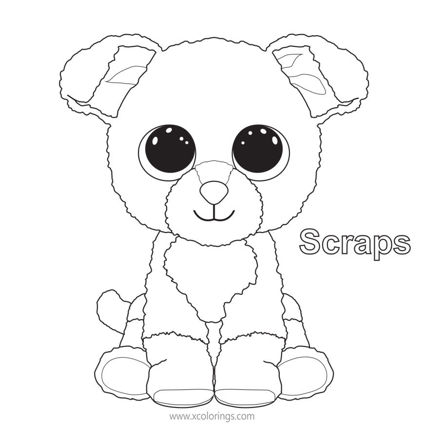 Beanie Boos Coloring Pages Scraps The Dog - XColorings.com