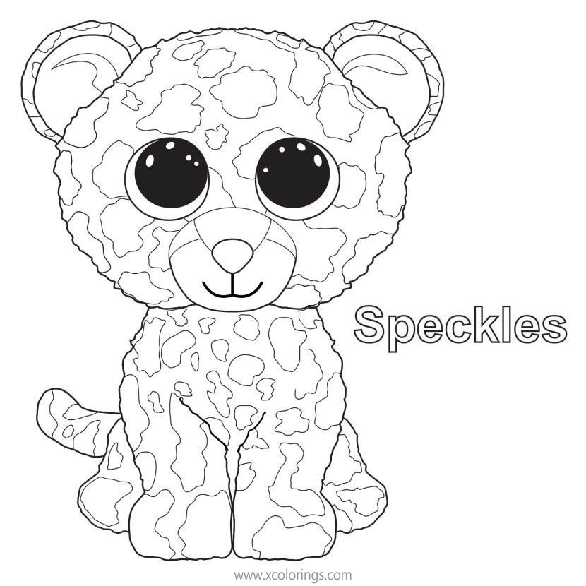 Beanie Boos Coloring Pages Speckles - XColorings.com