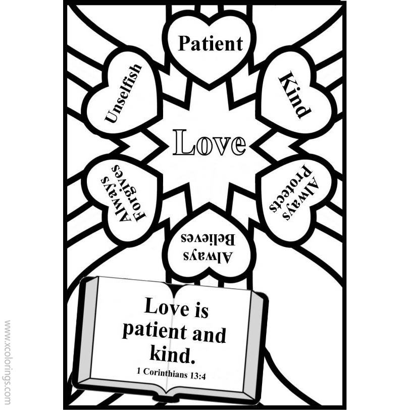 Christian Valentines Day Heart Coloring Pages Xcolorings Com