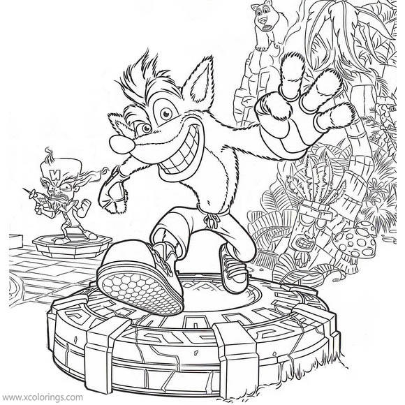 Crash Bandicoot Coloring Pages Free To Print Xcolorings Com