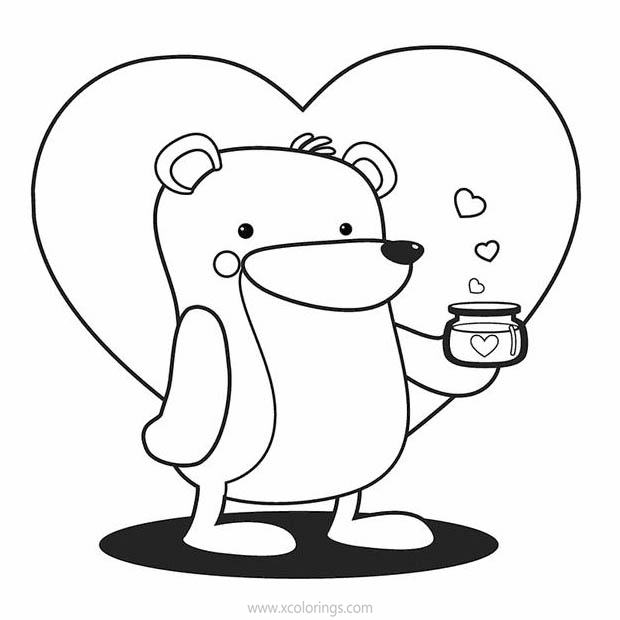 Cute Animal Valentines Day Coloring Pages Xcolorings Com