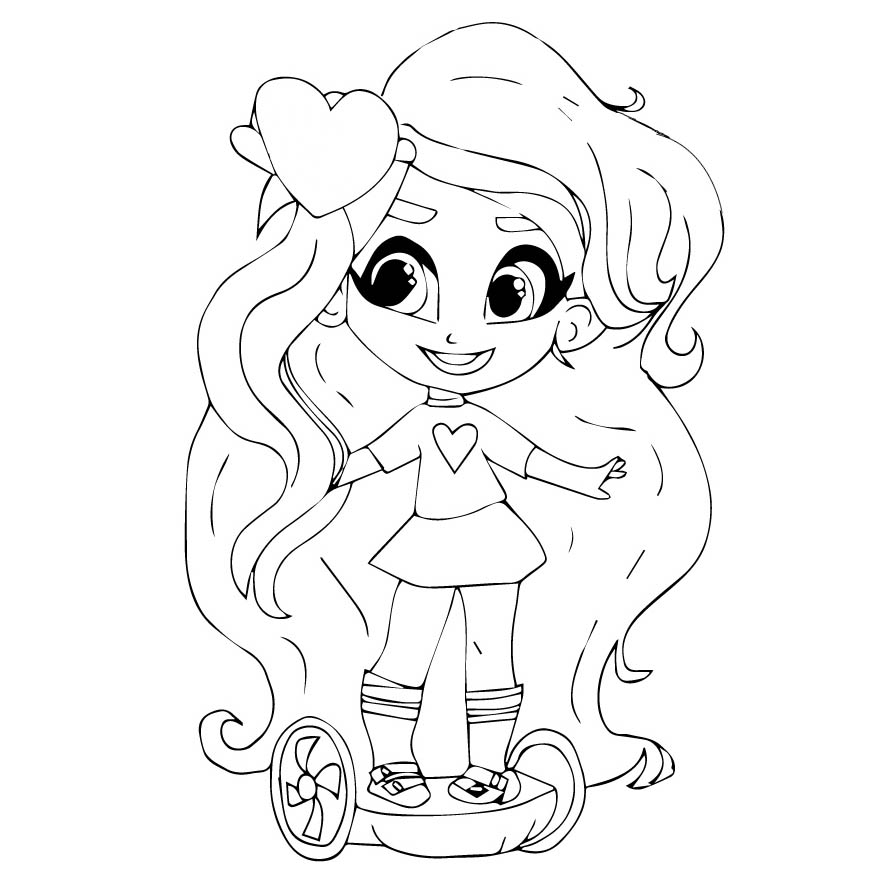 Hairdorables Coloring Pages Little Girl Xcolorings Com