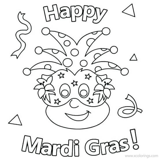 Happy Mardi Gras Coloring Pages Xcolorings Com