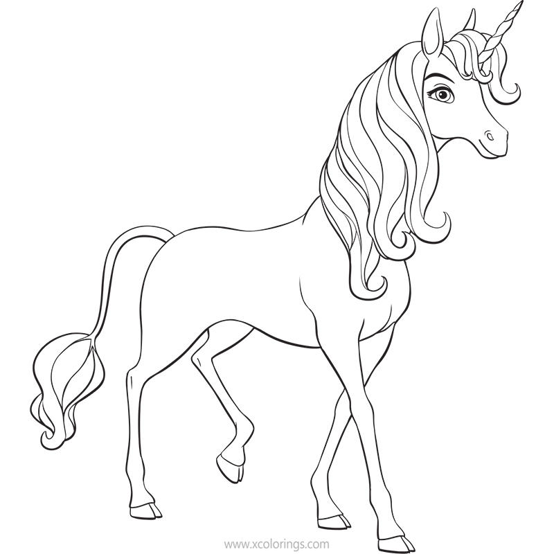 Mia And Me Coloring Pages Unicorn Without Wings Xcolorings Com