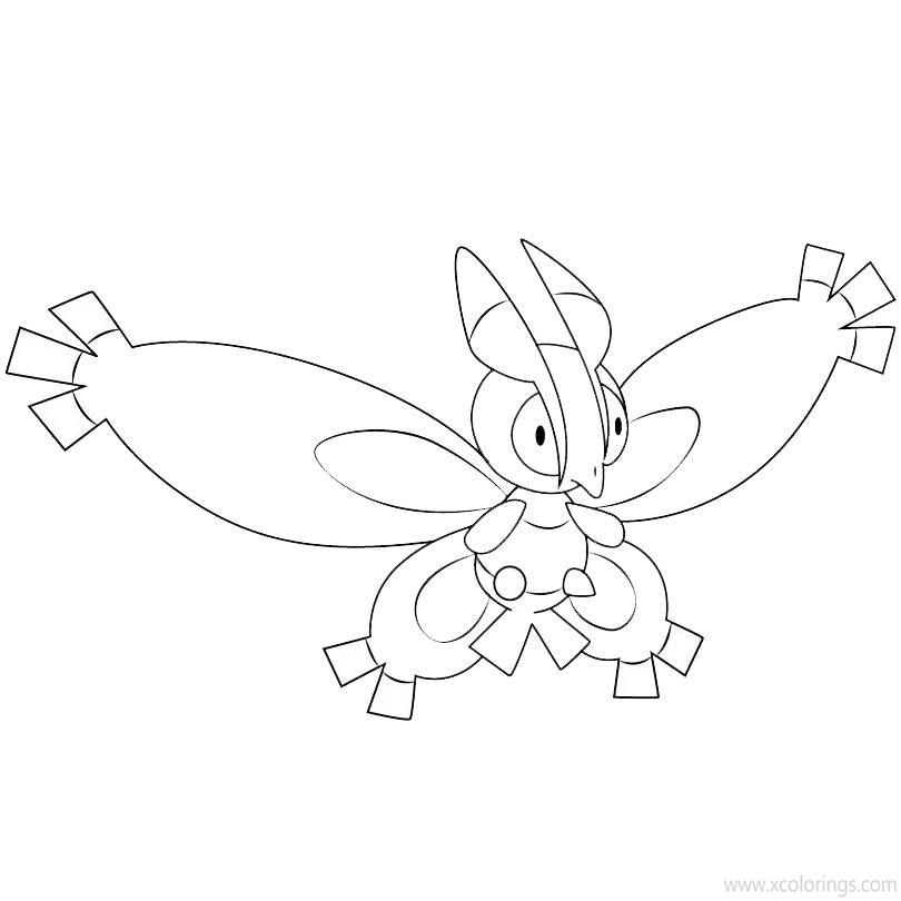 Pokemon Mothim Coloring Pages Xcolorings Com