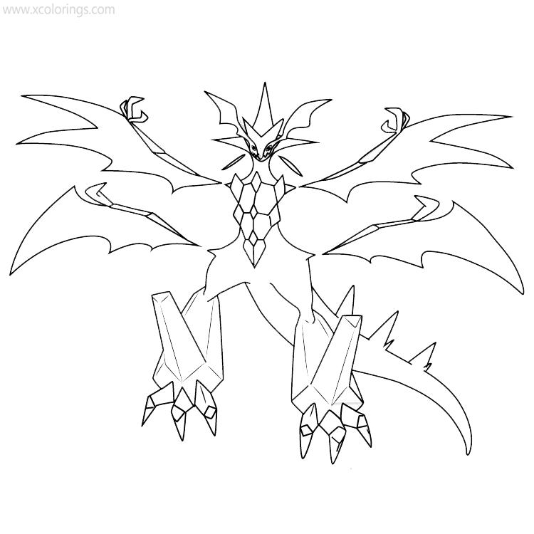 Pokemon Ultra Necrozma Coloring Pages Xcolorings Com
