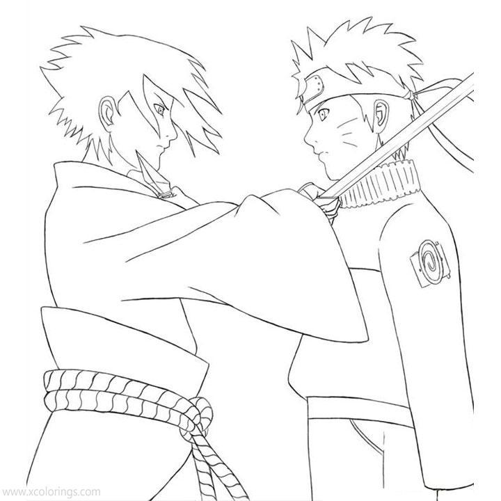 Sasuke And Naruto Coloring Pages Xcolorings Com