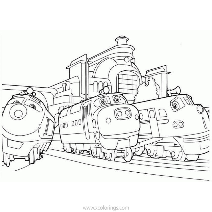 Trains From Chuggington Coloring Pages Xcolorings Com