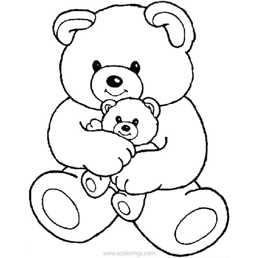 Valentines Baby Bear Coloring Pages Xcolorings Com