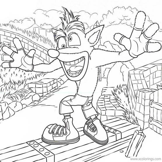 Video Game Crash Bandicoot Coloring Pages Xcolorings Com