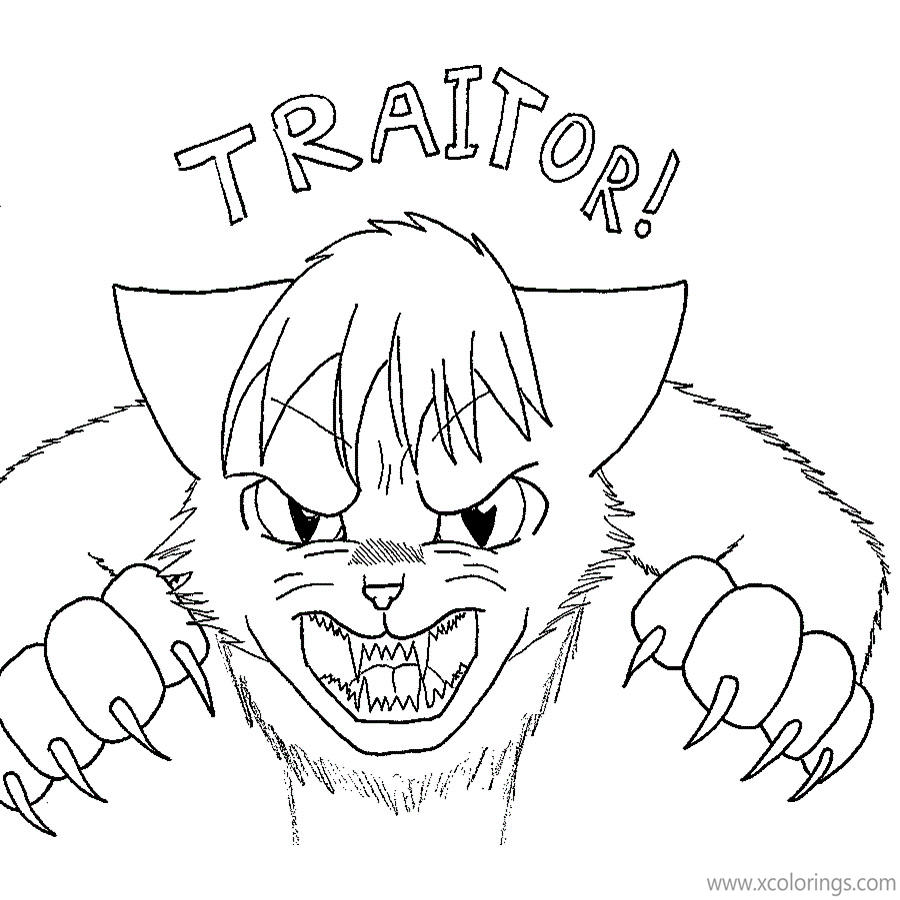 Warrior Cat Coloring Pages Traitor Xcolorings Com