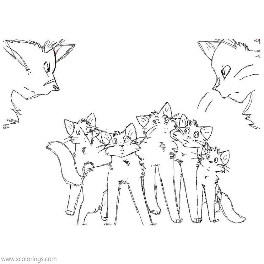 Free Warrior Cat Coloring Pages by thegreatgreywolf printable