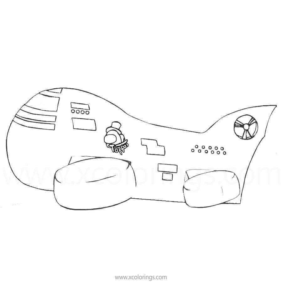 Free Among Us Coloring Pages Air Station printable