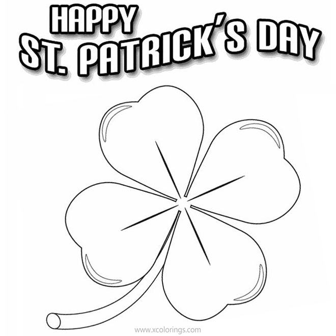 Free Easy Shamrock Coloring Pages printable