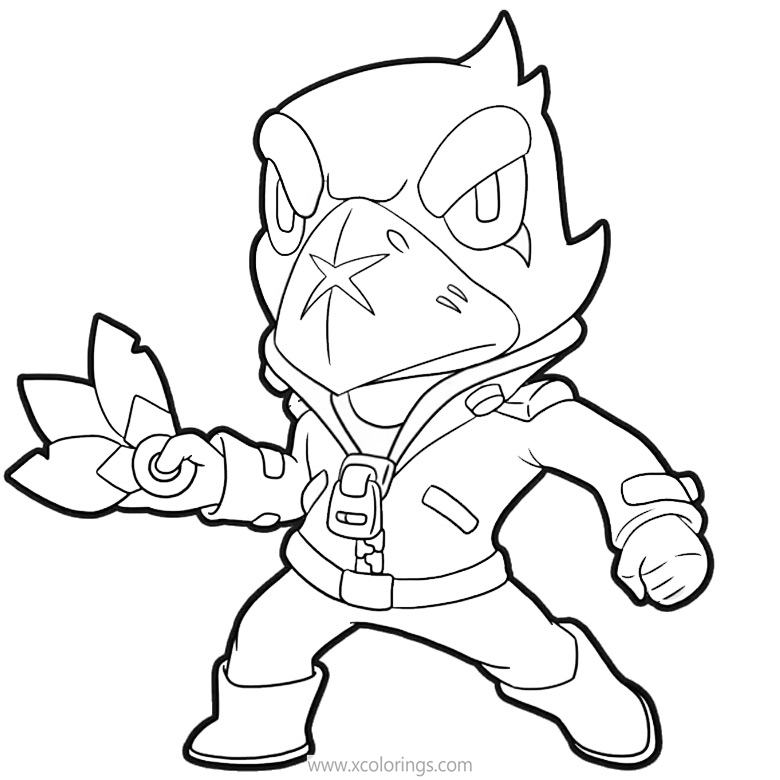 Free Crow Brawl Stars Coloring Pages Xcolorings Com