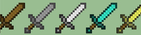 Minecraft Sword Coloring Pages Collection