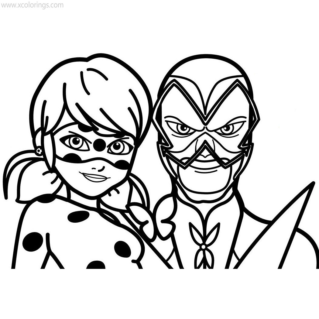 Miraculous Ladybug Coloring Pages Hawk Moth Xcolorings Com