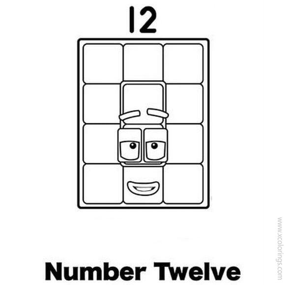 Numberblocks Coloring Pages 12 Xcolorings Com