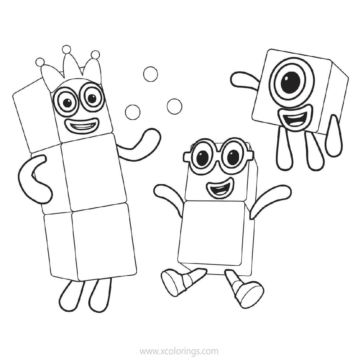 Numberblocks Coloring Pages 1 to 10 - XColorings.com