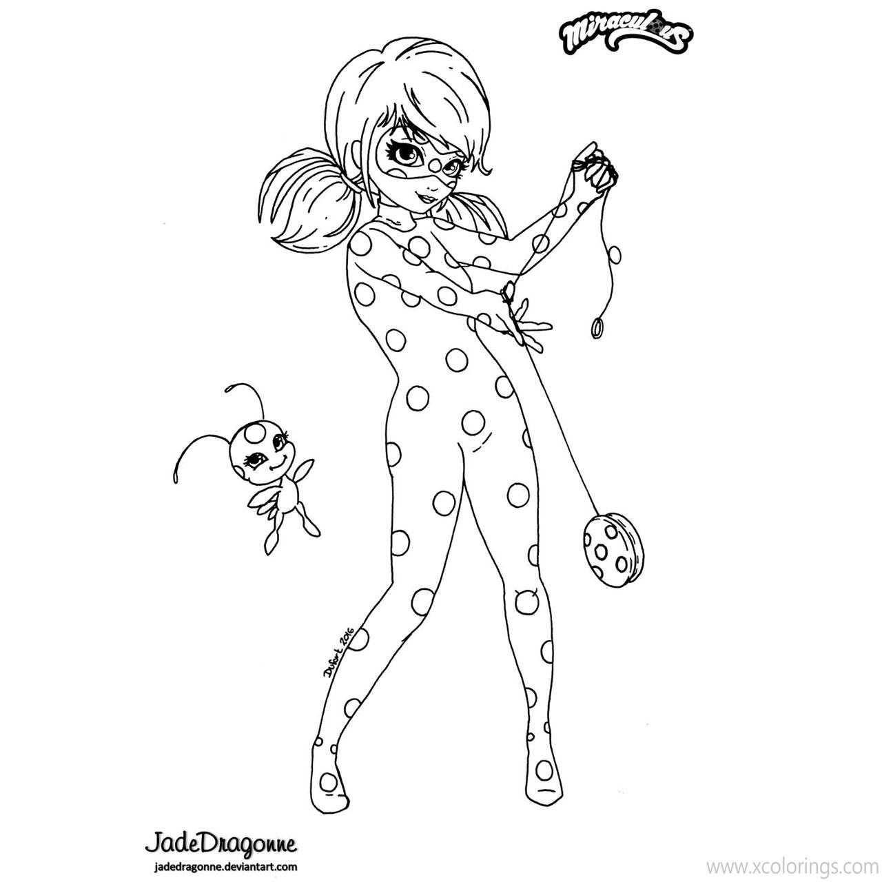 Printable Miraculous Ladybug Coloring Pages Xcolorings Com