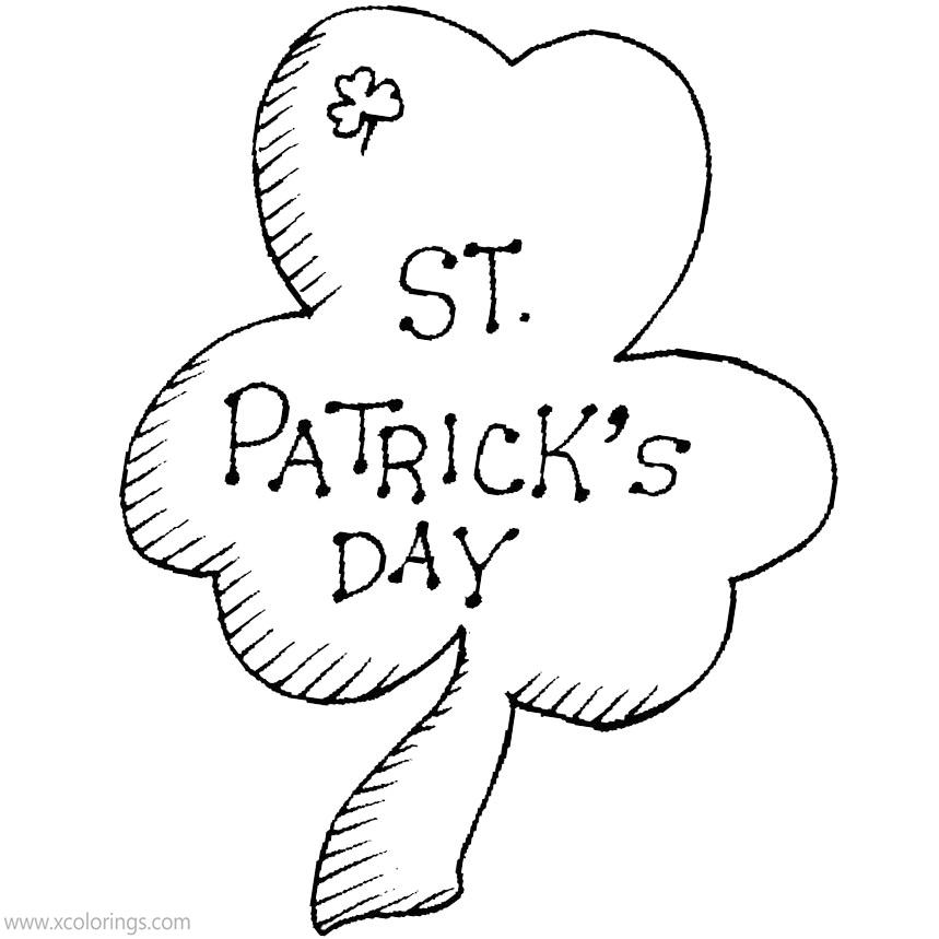 Free Shamrock for St. Patrick's Day Coloring Pages printable