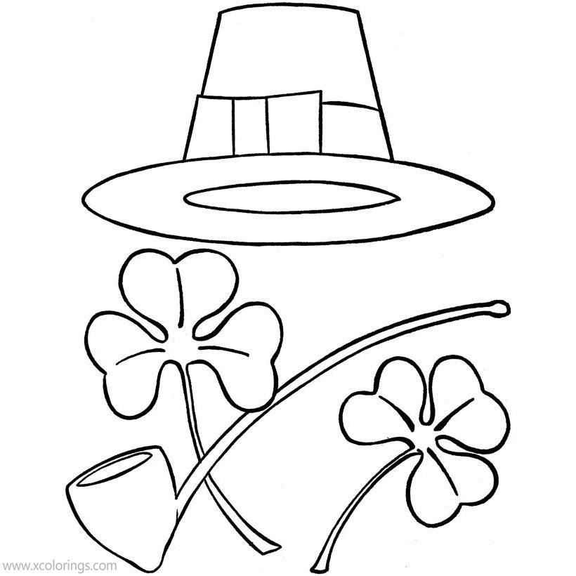 Free St. Patrick's Day Coloring Pages Pipe printable