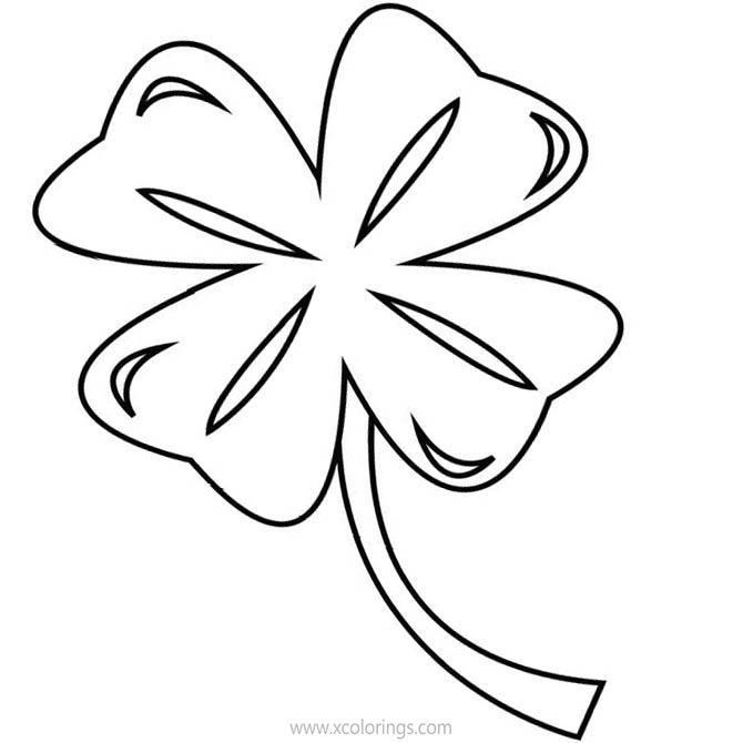 Free 4 Leaf Clover Coloring Sheets printable