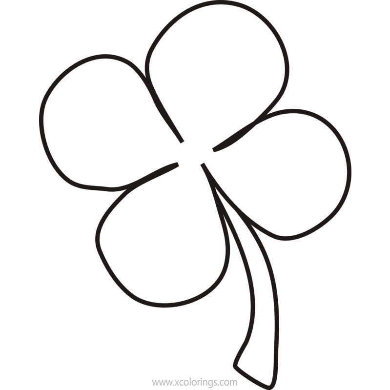 Free Four Leaf Clover is not Shamrock Coloring Pages printable