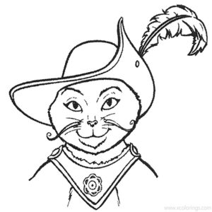 Puss in Boots Portrait coloring pages